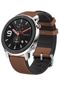 AMAZFIT - Amazfit smartwatch GTR 47 mm Stainless Steel. Rodzaj zegarka: smartwatch. Kolor: wielokolorowy, brązowy, czarny