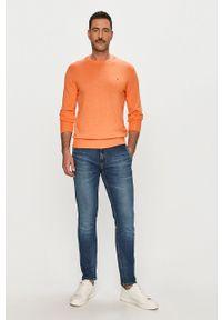 Pomarańczowy sweter TOMMY HILFIGER na co dzień, z długim rękawem, gładki