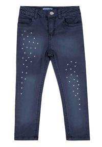 Mayoral Spodnie materiałowe 4503 Granatowy Skinny Fit. Kolor: niebieski. Materiał: materiał