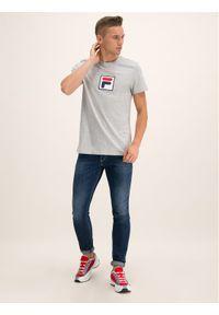 Fila T-Shirt 682099 Szary Regular Fit. Kolor: szary