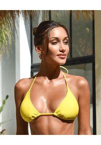 CAHA CAPO - Żółty top od bikini Ainsley. Kolor: żółty. Materiał: materiał