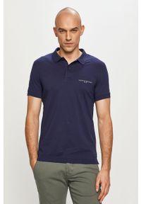 Niebieska koszulka polo TOMMY HILFIGER polo, krótka