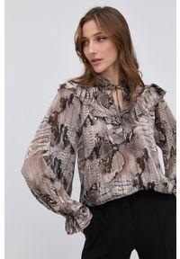 Nissa - NISSA - Bluzka. Okazja: na co dzień. Kolor: szary. Materiał: tkanina, materiał. Długość rękawa: długi rękaw. Długość: długie. Styl: casual