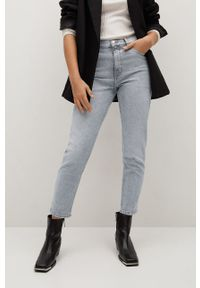 Szare jeansy loose fit mango