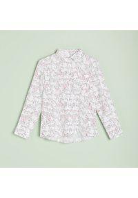 Reserved - Wiskozowa koszula - Różowy. Kolor: różowy. Materiał: wiskoza
