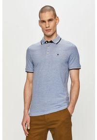 Niebieska koszulka polo Jack & Jones polo, casualowa