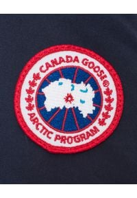 CANADA GOOSE - Granatowa parka Bennett. Kolor: niebieski. Wzór: aplikacja