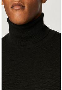 Czarny sweter medicine długi, z długim rękawem, casualowy, na co dzień #8