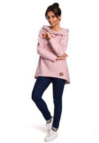 e-margeritka - Bluza damska z kapturem różowa - 2xl. Okazja: na co dzień. Typ kołnierza: kaptur. Kolor: różowy. Materiał: bawełna, dzianina, materiał, poliester. Długość: długie. Styl: casual