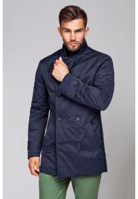 Niebieska kurtka Lancerto na jesień, elegancka
