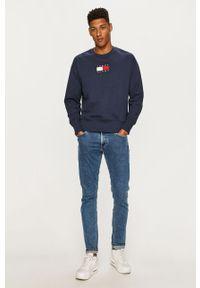 Niebieska bluza nierozpinana Tommy Jeans na co dzień, casualowa