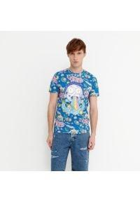 House - Koszulka z nadrukiem Rick and Morty - Niebieski. Kolor: niebieski. Wzór: nadruk