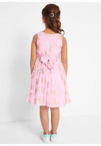 Różowa sukienka bonprix z aplikacjami