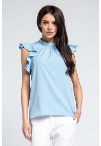 Niebieska bluzka Nommo elegancka