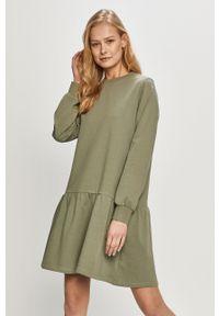 Zielona sukienka Jacqueline de Yong mini, prosta, gładkie, na co dzień