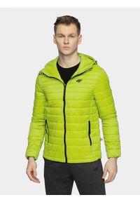 Zielona kurtka puchowa 4f