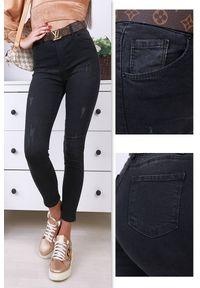 Czarne jeansy IVET klasyczne, na co dzień