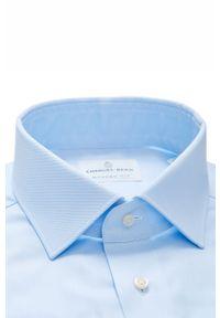Niebieska koszula Emanuel Berg długa, z klasycznym kołnierzykiem