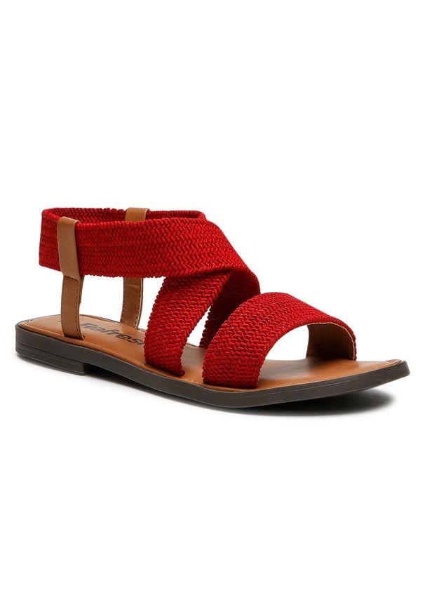 Refresh - Sandały REFRESH - 72646 Red. Okazja: na co dzień. Kolor: czerwony. Materiał: materiał. Sezon: lato. Styl: casual
