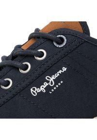 Niebieskie półbuty Pepe Jeans z cholewką, na co dzień, klasyczne