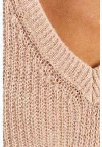 Różowy sweter Morgan z długim rękawem, długi