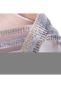 Srebrne sandały Menbur klasyczne, z aplikacjami