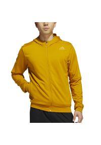 Żółta bluza Adidas z kapturem