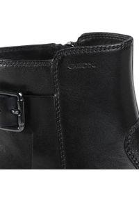 Czarne buty zimowe Geox z cholewką, na co dzień, casualowe