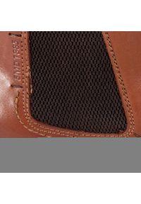 Brązowe buty zimowe Salamander eleganckie, z cholewką