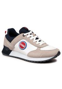 Colmar - Sneakersy COLMAR - Travis Colors 001 White/Navy. Okazja: na co dzień. Kolor: beżowy. Materiał: zamsz, materiał, skóra. Szerokość cholewki: normalna