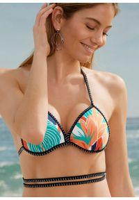 Pomarańczowy strój kąpielowy bonprix z nadrukiem