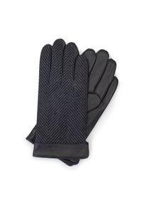Rękawiczki Wittchen eleganckie, na jesień, jodełka