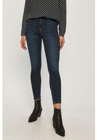 Niebieskie jeansy Cross Jeans z podwyższonym stanem