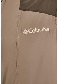 Szara kurtka columbia z kapturem, casualowa