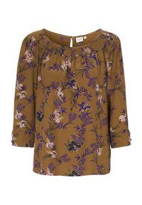 Brązowa bluzka Cream w kwiaty