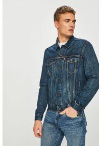 Niebieska kurtka Levi's® na spotkanie biznesowe, casualowa, w kolorowe wzory