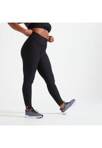 DOMYOS - Legginsy fitness damskie Domyos. Stan: podwyższony. Materiał: poliester, materiał, elastan. Sport: fitness