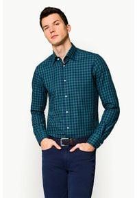 Lancerto - Koszula Zielona w Kratę Veronica. Kolor: zielony. Materiał: jeans, tkanina, bawełna. Wzór: kratka. Sezon: jesień, zima
