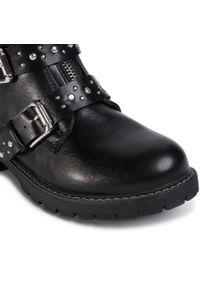Czarne buty zimowe Nelli Blu z cholewką, z aplikacjami