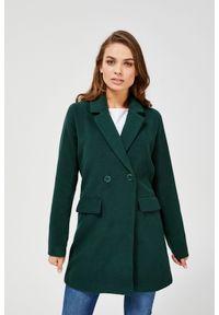 MOODO - Dwurzędowy płaszcz. Typ kołnierza: bez kaptura. Materiał: poliester. Długość rękawa: długi rękaw. Długość: długie. Wzór: gładki