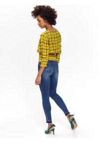 Żółta bluzka TOP SECRET na lato, casualowa, na co dzień