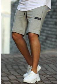 Szare jeansy IVET w kolorowe wzory, na co dzień, krótkie, casualowe