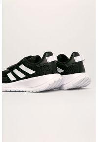 Czarne buty sportowe Adidas z okrągłym noskiem, do biegania, na rzepy