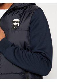 Niebieska kurtka przejściowa Karl Lagerfeld z dekoltem karo