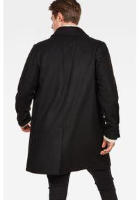 Czarny płaszcz G-Star RAW casualowy, bez kaptura, na co dzień