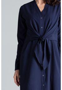Sukienka koszulowa, elegancka