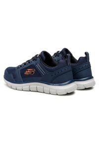 Niebieskie buty treningowe skechers