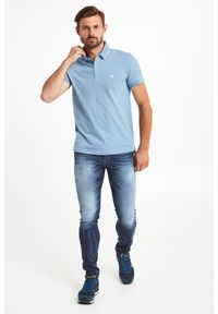 Koszulka polo Emporio Armani Swimwear w jednolite wzory, sportowa
