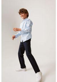 Turkusowa koszula Mango Kids na co dzień, klasyczna, z klasycznym kołnierzykiem, długa