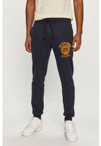 Niebieskie spodnie dresowe Jack & Jones z aplikacjami